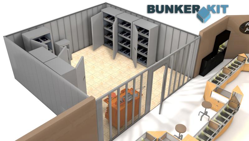 Bunkerkit avec armoire et cloison vitrée